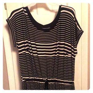 Ava & Viv, Black & white stripped maxi dress